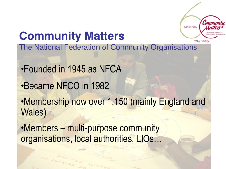 community matters the national federation of community organisations n.