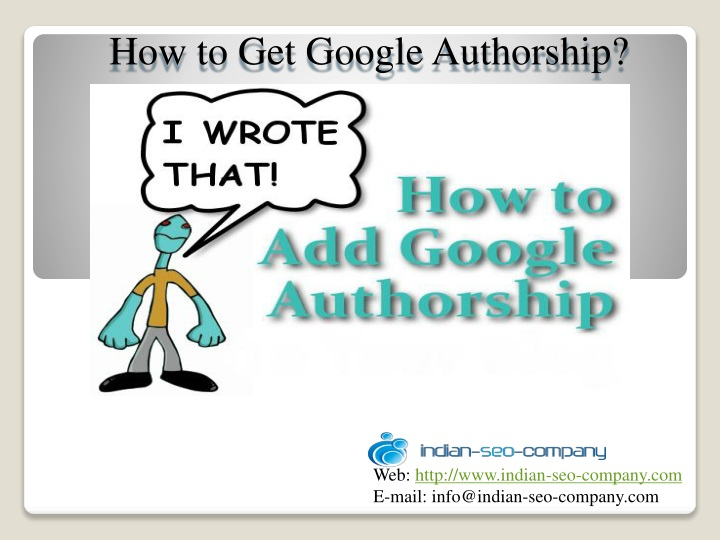 how to get google authorship n.