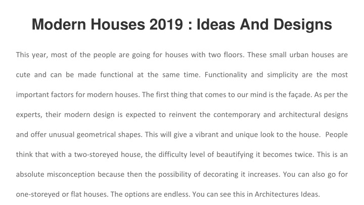 modern houses 2019 ideas and designs n.