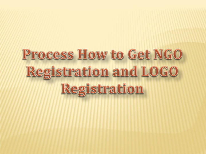 process how to get ngo registration and logo n.
