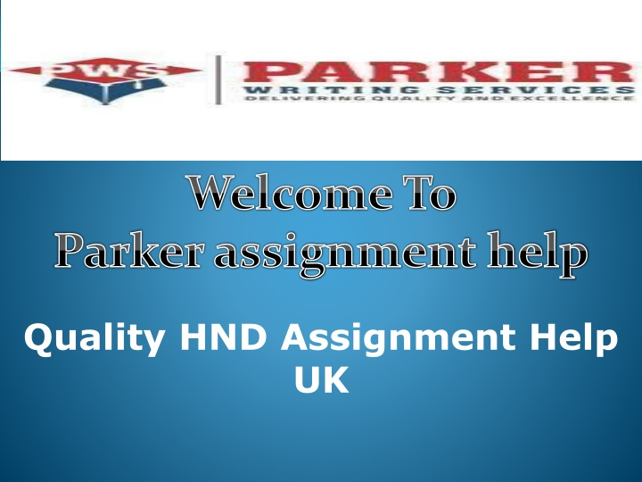 welcome to p arker assignment help n.