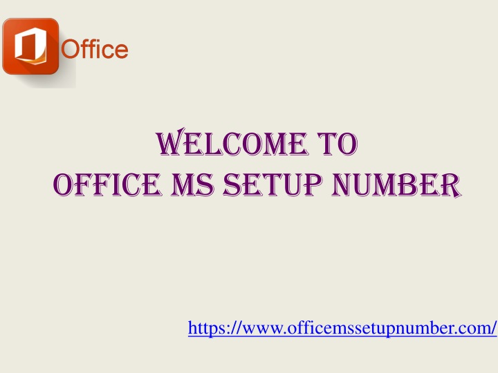 welcome to office ms setup number n.