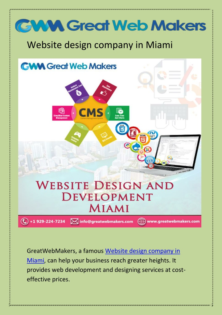 Website design company in Miami