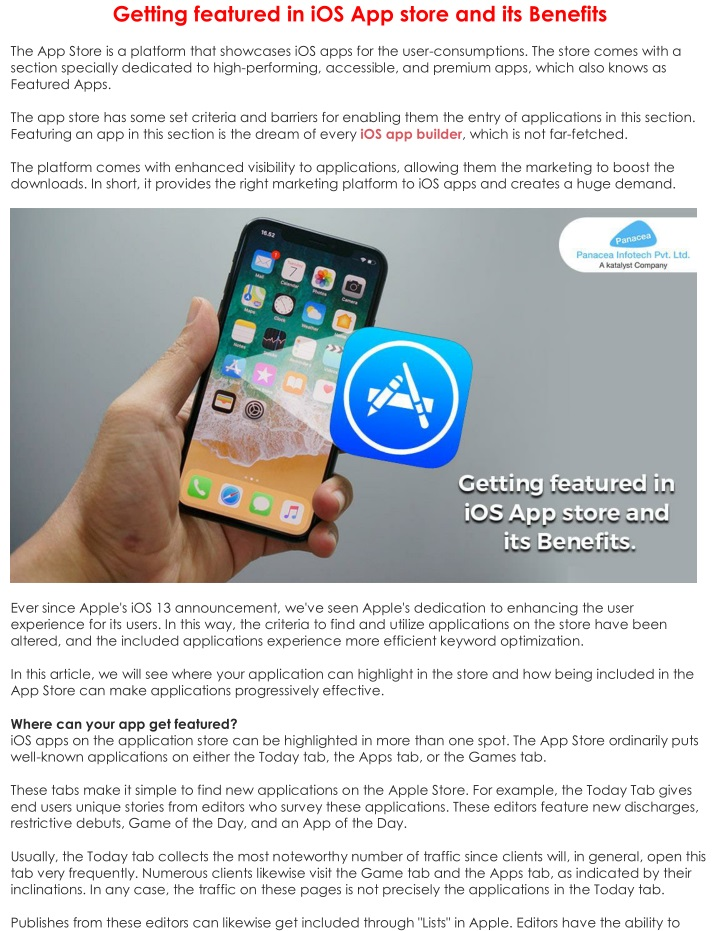 getting featured in ios app store and its benefits n.