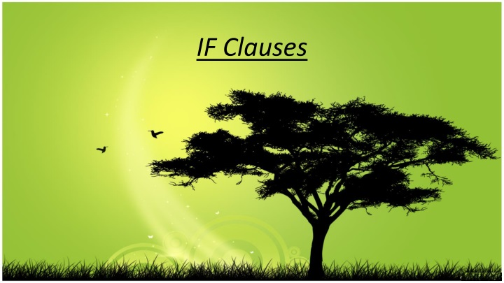 if clauses n.