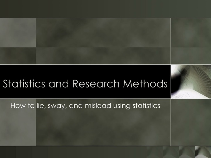 statistics and research methods n.