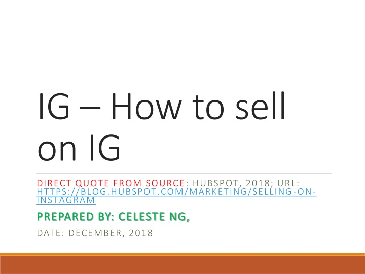 ig how to sell on ig n.