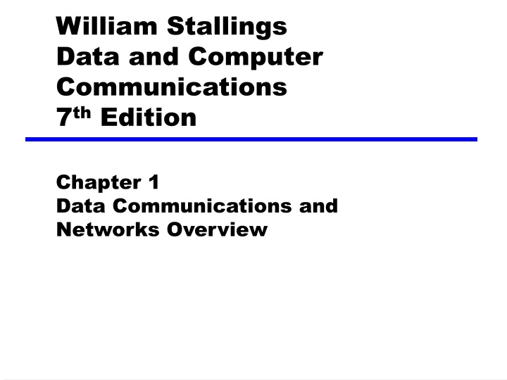 william stallings data and computer communications 7 th edition n.