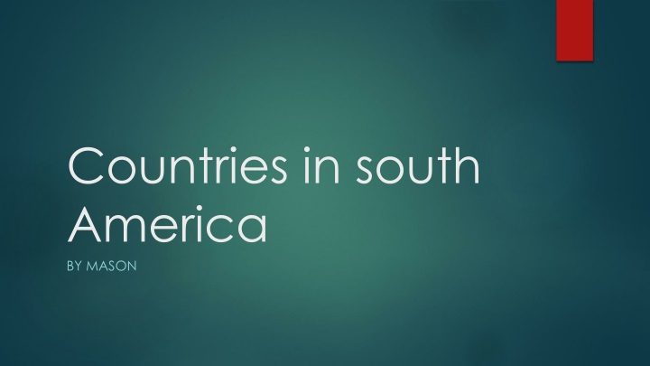 countries in south america n.