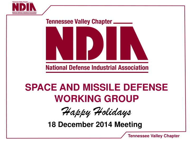 space and missile defense working group happy n.