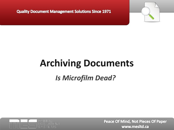 archiving documents n.