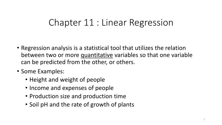 chapter 11 linear regression n.