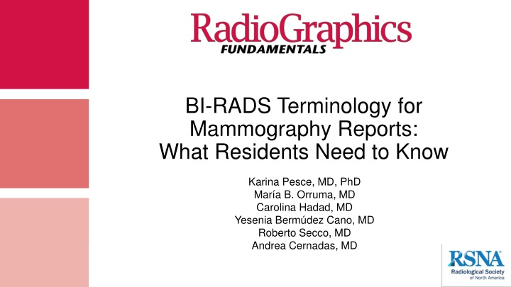 bi rads terminology for mammography reports what n.