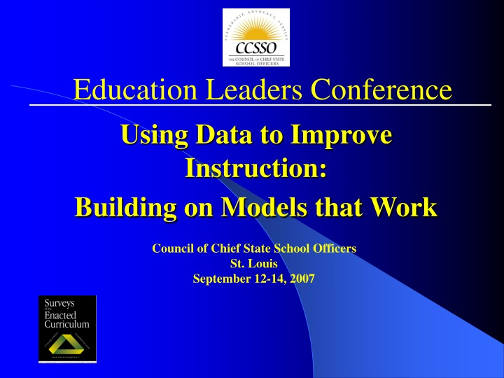 using data to improve instruction building on models that work n.