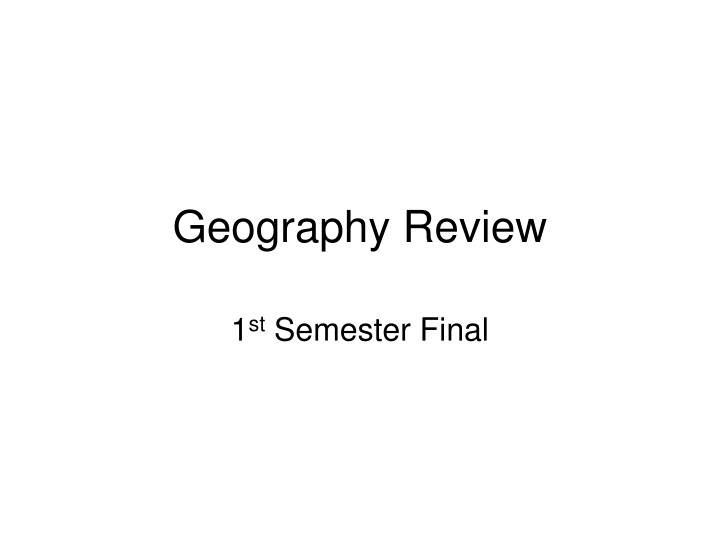 geography review n.