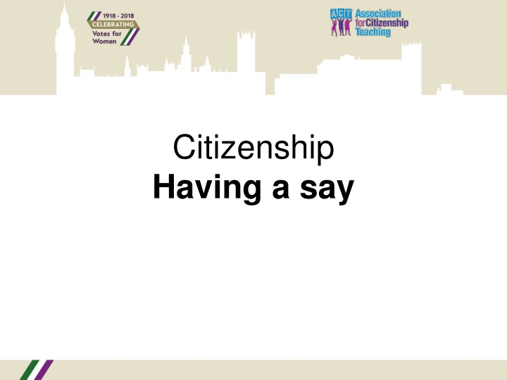citizenship having a say n.