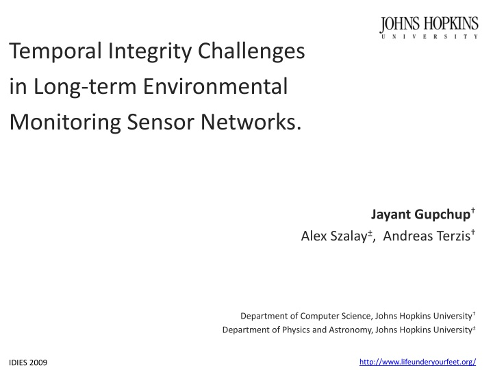 temporal integrity challenges in long term n.