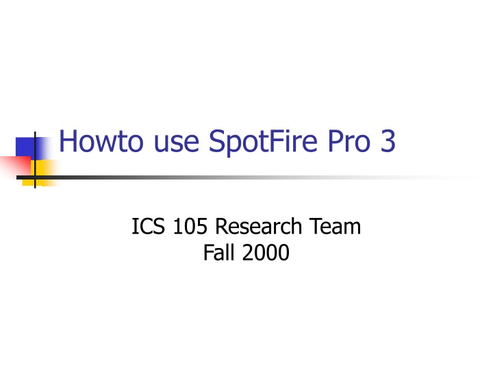 howto use spotfire pro 3 n.