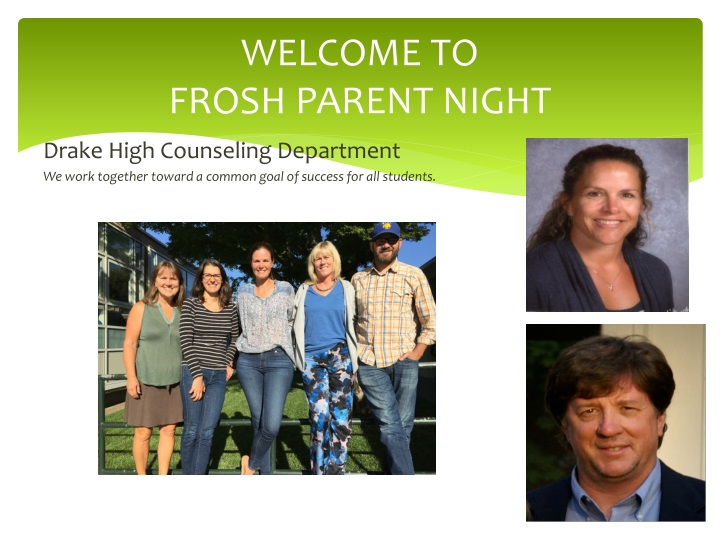 welcome to frosh parent night n.