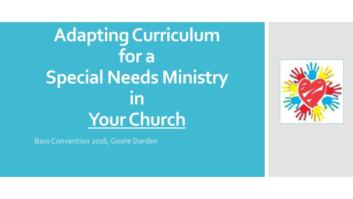 adapting curriculum for a special needs ministry in your church n.