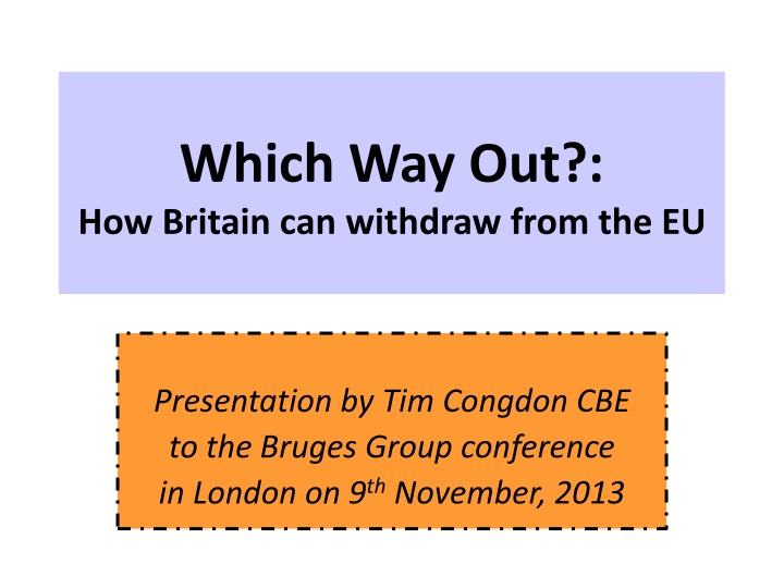 which way out how britain can withdraw from the eu n.