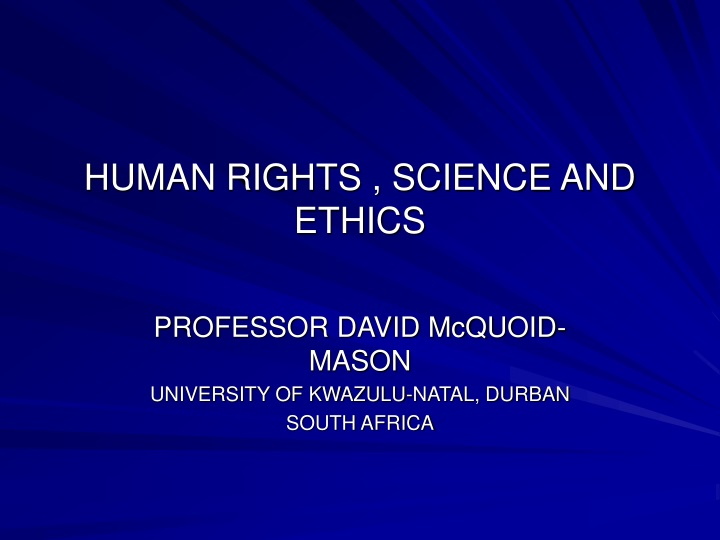 human rights science and ethics n.