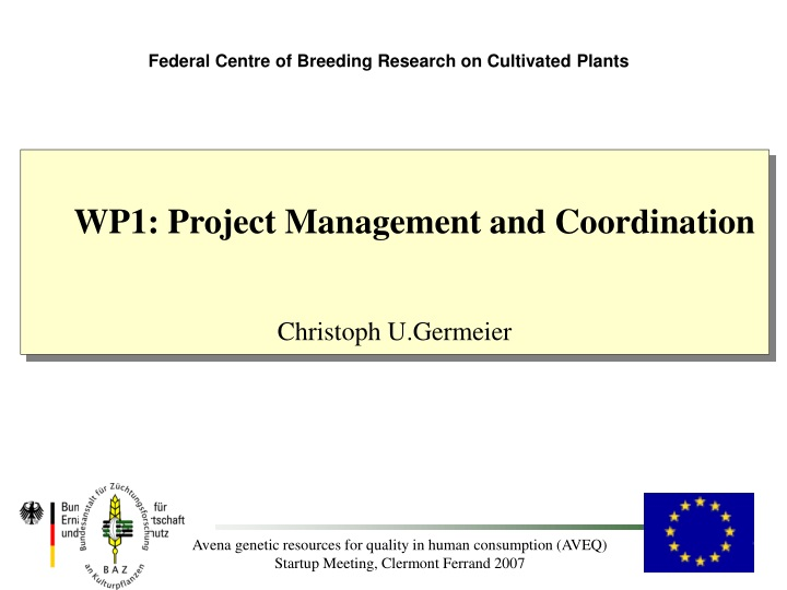 federal centre of breeding research on cultivated n.