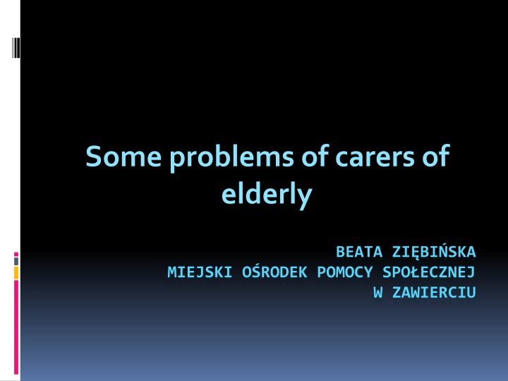 some problems of carers of elderly n.