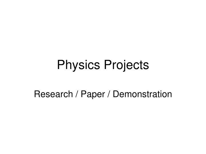 physics projects n.