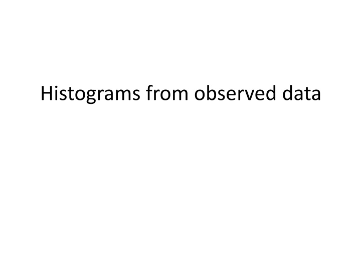 histograms from observed data n.