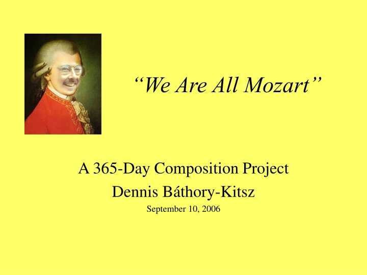we are all mozart n.
