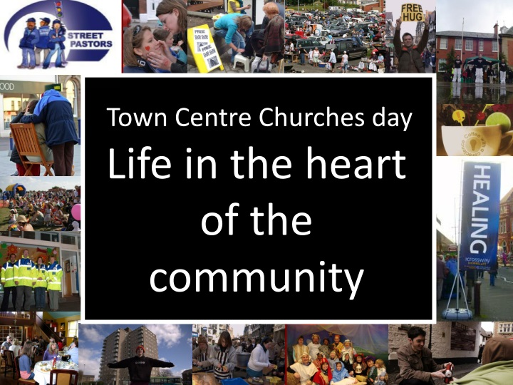 town centre churches day life in the heart of the community n.