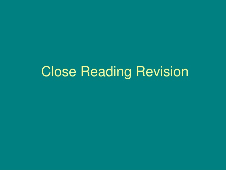 close reading revision n.