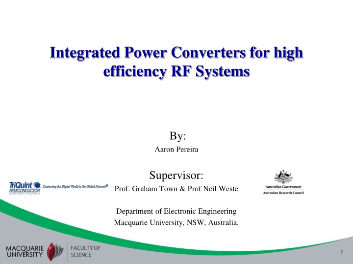 integrated power converters for high efficiency rf systems n.