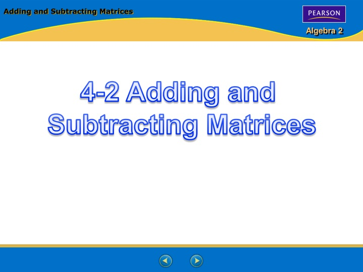adding and subtracting matrices n.