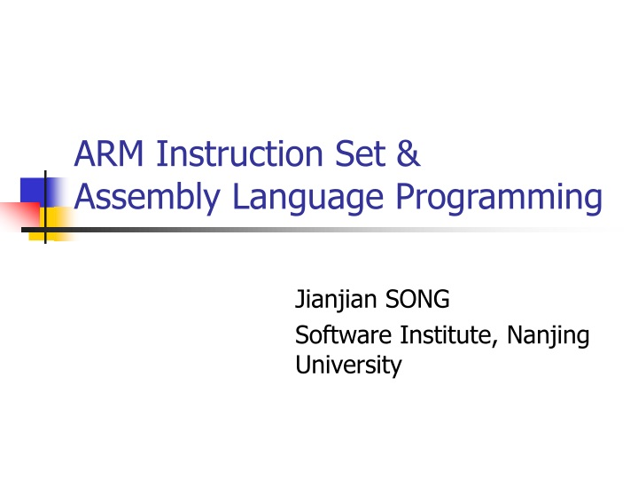 arm instruction set assembly language programming n.