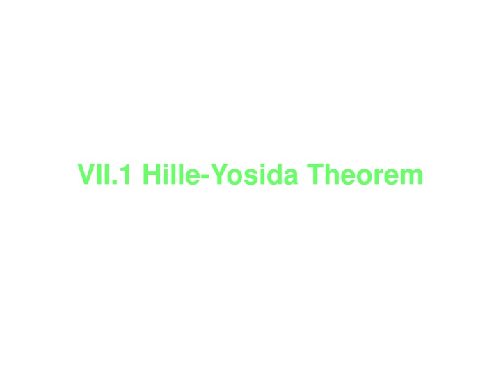 vii 1 hille yosida theorem n.