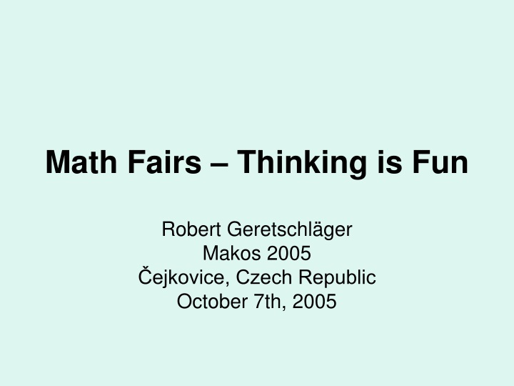 math fairs thinking is fun n.