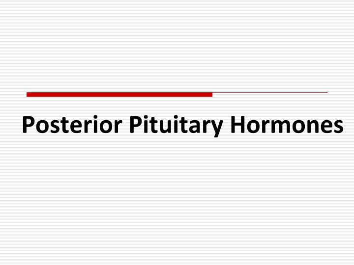 posterior pituitary hormones n.