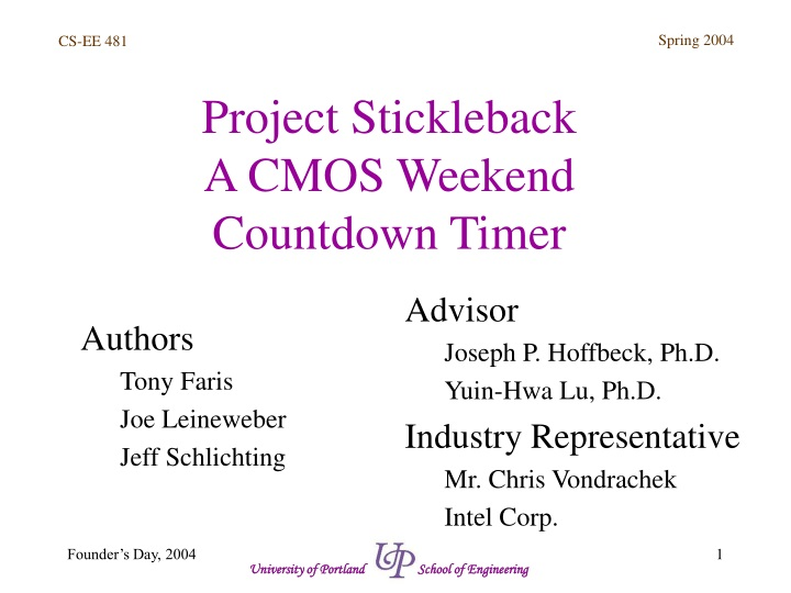project stickleback a cmos weekend countdown timer n.