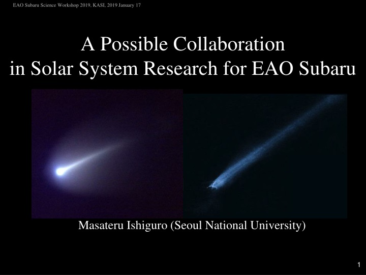 a possible collaboration in solar system research for eao subaru n.