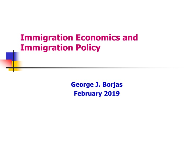 immigration economics and immigration policy n.