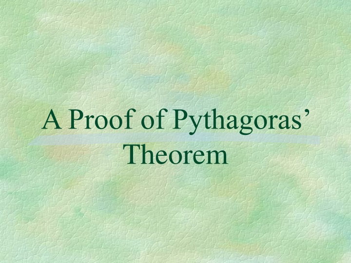 a proof of pythagoras theorem n.