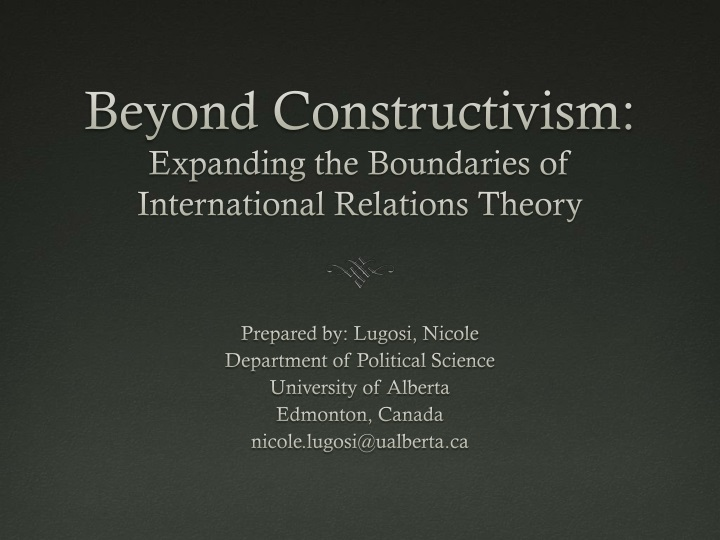beyond constructivism expanding the boundaries of international relations theory n.