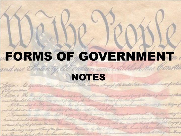 forms of government n.