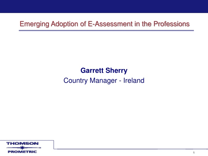 emerging adoption of e assessment in the professions n.