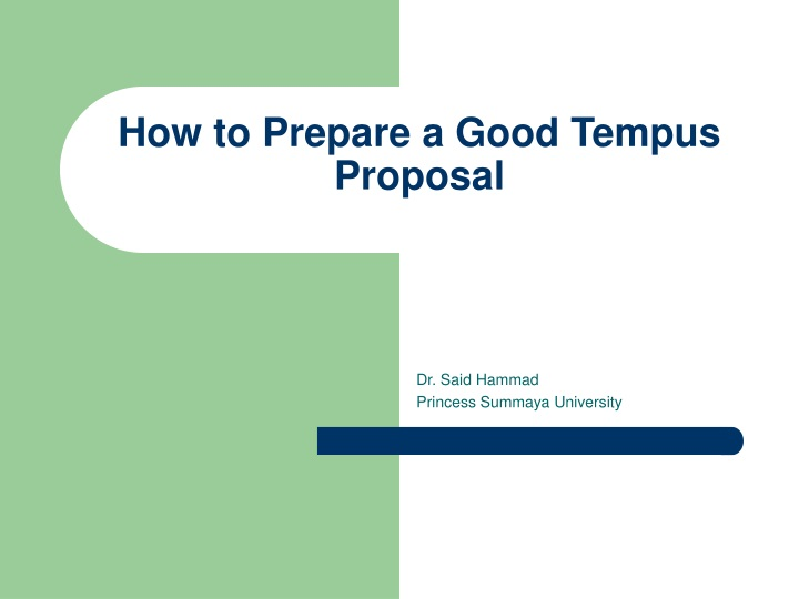 how to prepare a good tempus proposal n.