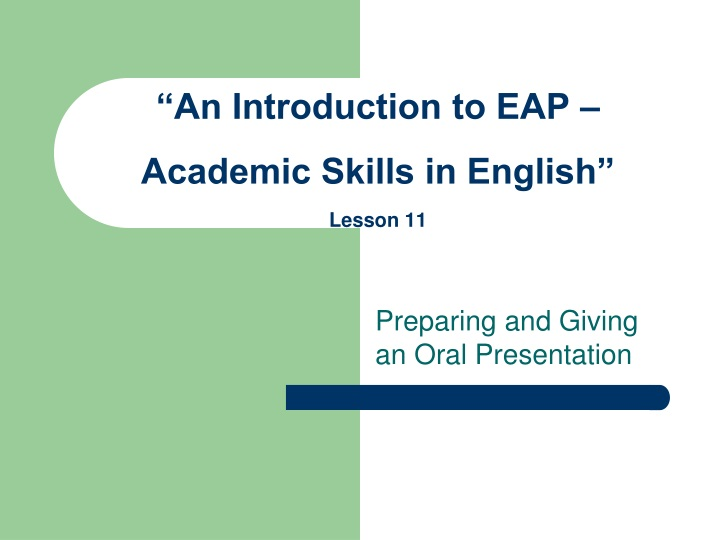 an introduction to eap academic skills in english lesson 11 n.