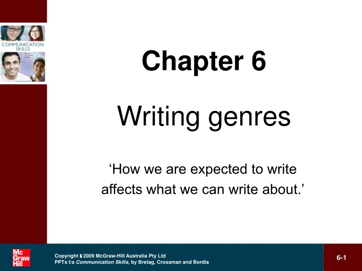 chapter 6 writing genres n.