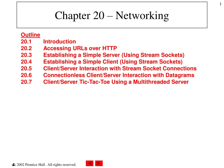 chapter 20 networking n.